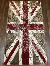 Modern Rugs Approx 4x2ft 60x110cm Woven Back Nice Designs Stamped Union Jack Red
